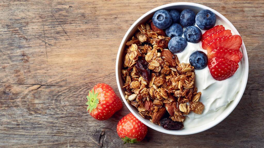 gesundes Knuspermüsli Frühstück