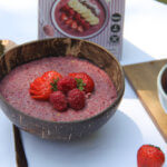 Porridge Smoothiebowl Himbeere-Erdbeere Rezept