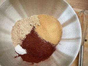 Rezept nussige Porridge Brownies Zutaten