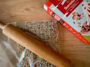 Rezepte beerige Crunchy Riegel mit Kokos Zubereitung