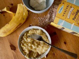 Rezept Frühstücksmuffins Kakao Banane Zubereitung