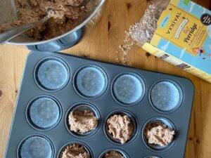 Rezept Frühstücksmuffins Kakao Banane Muffinformen