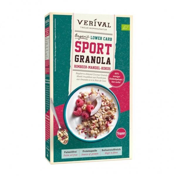 Granola SPORT Lower Carb Lampone-Mandorla-Cocco
