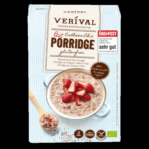Porridge con Fragole e Semi di Chia