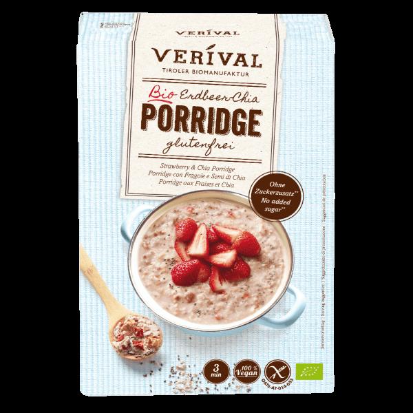 Verival Porridge con Fragole e Semi di Chia