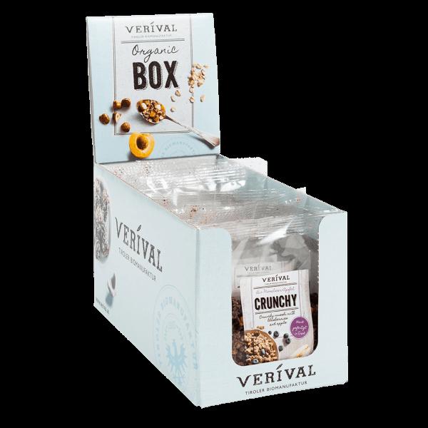 Cereal-Box Crunchy croccante con Mirtilli neri e Mela 8x 50g