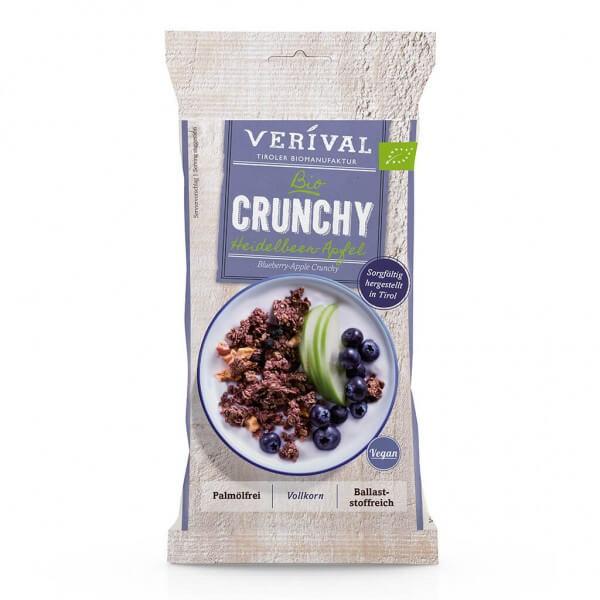 Verival Crunchy croccante con Mirtilli neri e Mela 50g