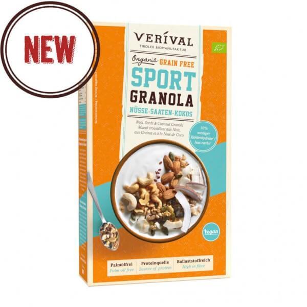 Granola SPORT senza Cereali con Frutta secca, Semi e Cocco
