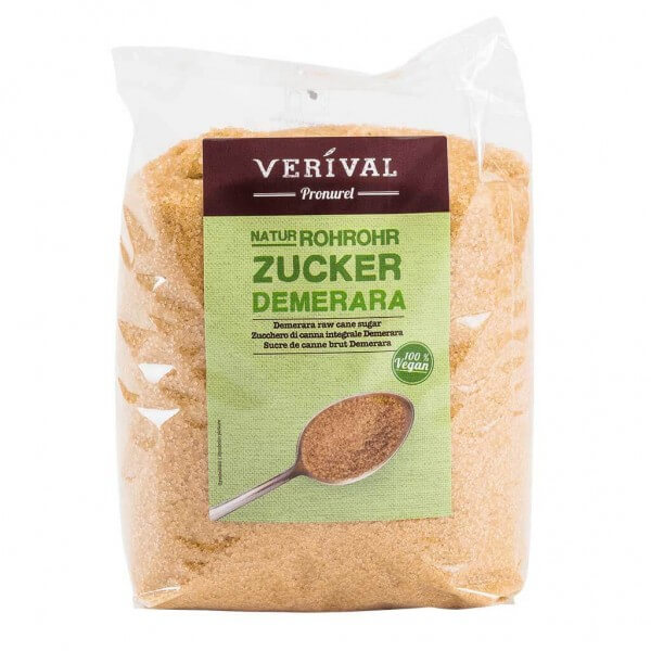 Verival Rohrohrzucker Demerara 1000g