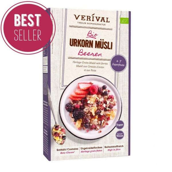 Muesli ai Cereali antichi con Frutti di Bosco 325g